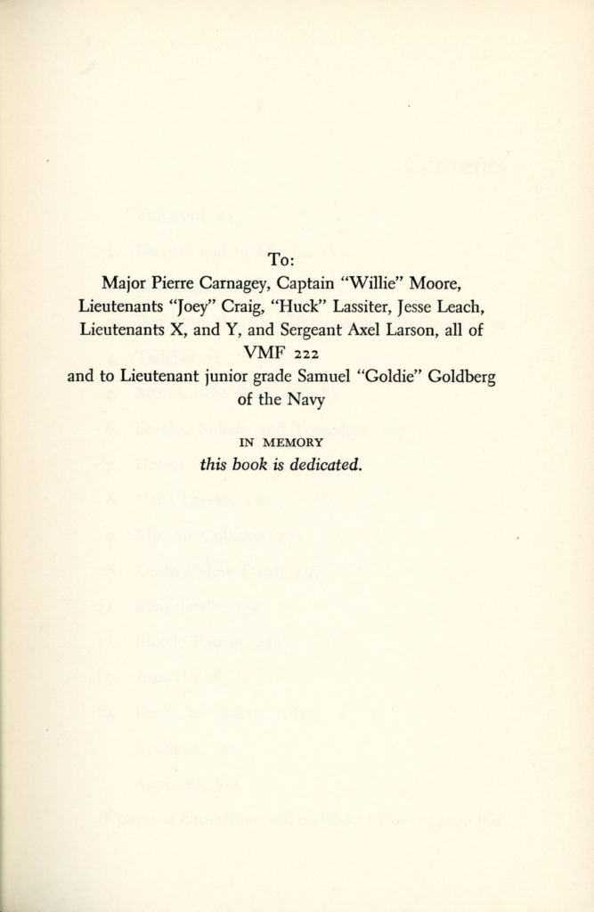 Hell in the Heavens - John M Foster - 1961 - Dedication_edited-2